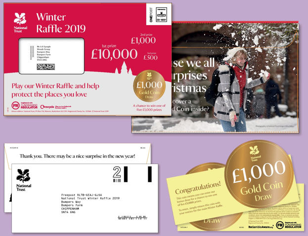 National Trust Raffle Gold Coin Incentive Pack Creative
