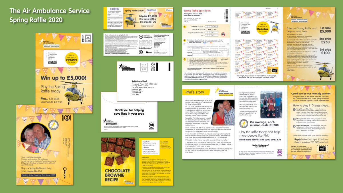 The Air Ambulance Service Spring 2020 raffle pack