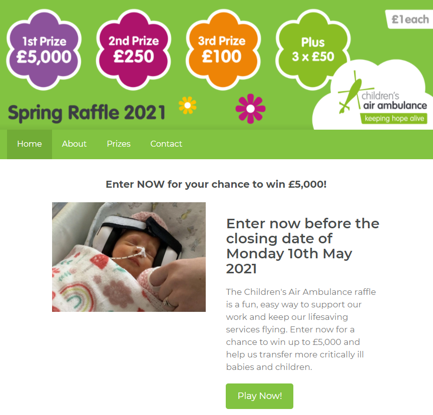 The Air Ambulance Service Online Raffle