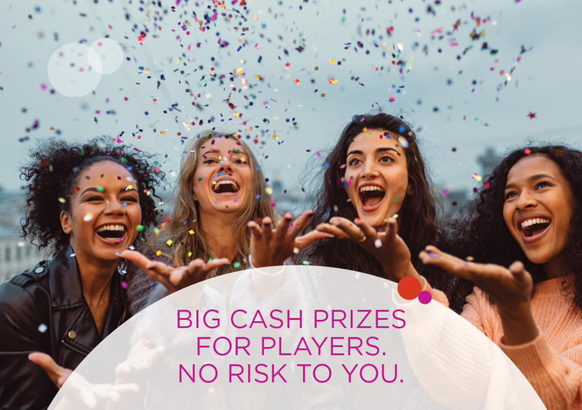 Big cash prizes for lottery players, no risk to your charity