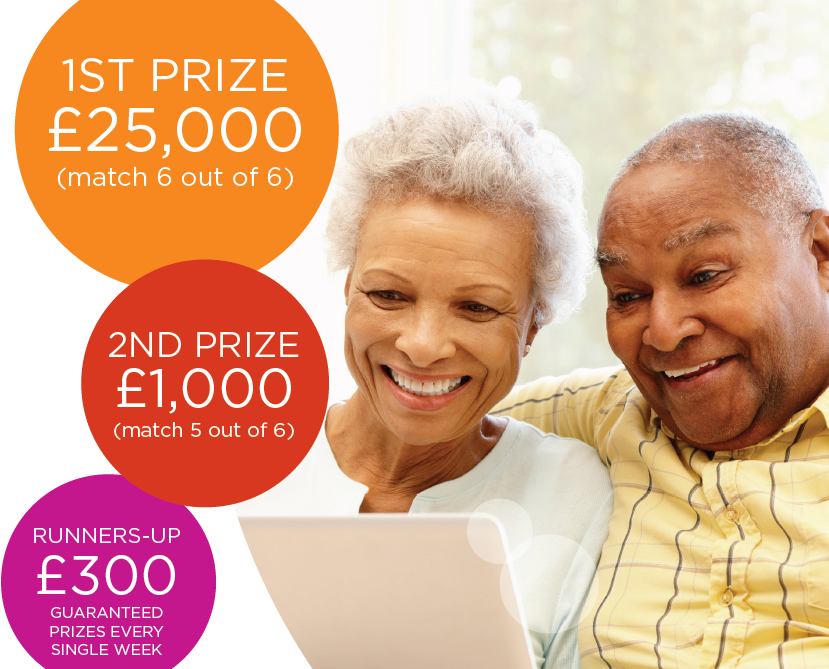 Affinity Lottery prize fund includes insured first prize of £25,000